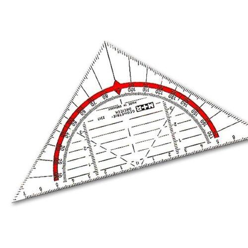 glasklar Geometriedreieck 16 cm Möbius Ruppert 2317