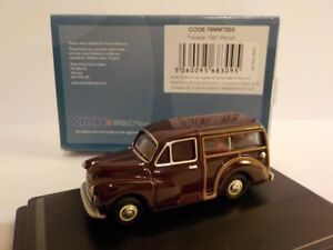 Morris-Minor-Traveller-Maroon-Model-Cars-Oxford-Diecast