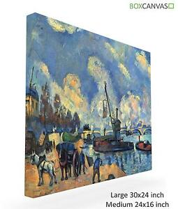 French Post Impresionist Canvas S7 ArtC Paul Cezzane 61 The Seine At Bercy