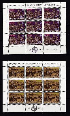 1787-1788 Europa Cept Radient Jugoslawien 1979 Postfrisch Kleinbogen Minr Jugoslawien