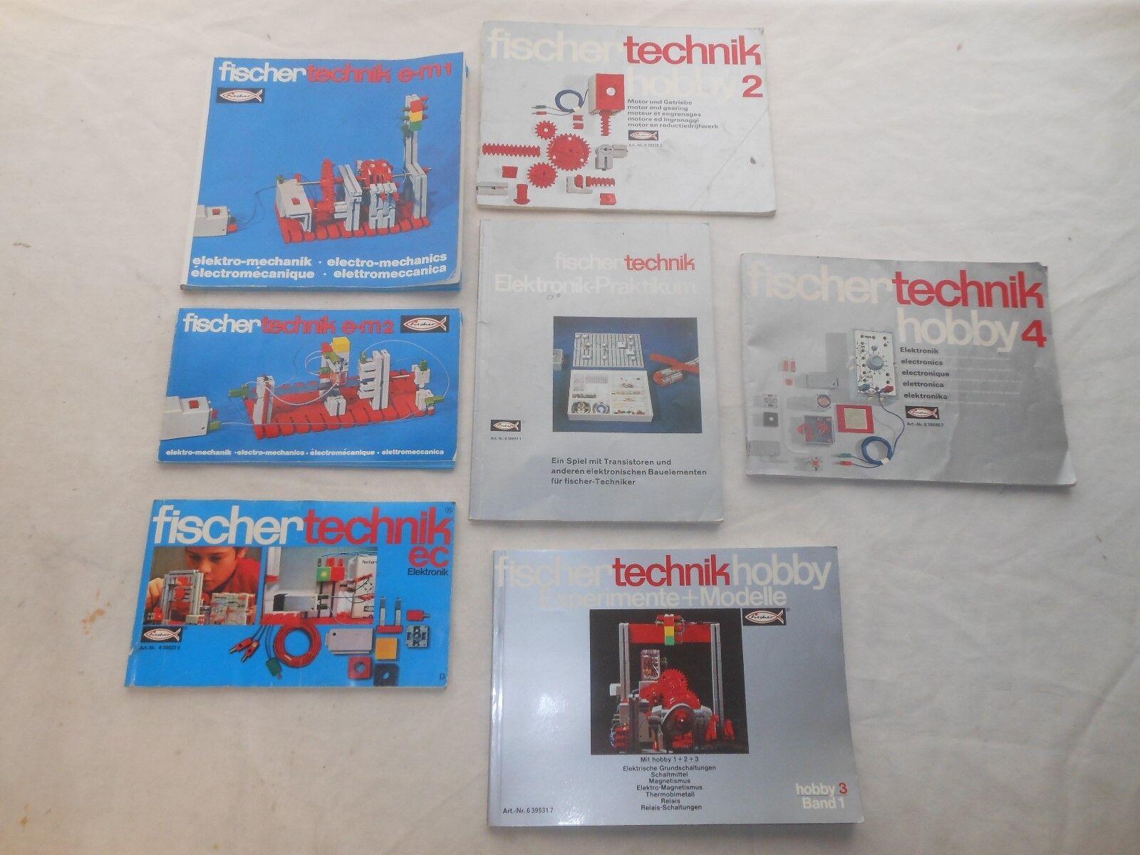 Fischertechnik Lot - Anleitungsbücher Hobby + Em Elektromechnik - L44