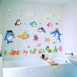 Wandtattoo kinderzimmer fisch hai nemo aquarium meer for Aquarium im kinderzimmer
