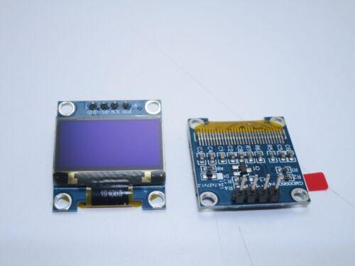 "Display oled lcd led 0.96/"" 128x64 12864 I2C IIC 4 pin ssd1306 blu per arduino"