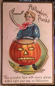 PRANKS! HALLOWEEN, DPO Post Card 1908 WEST ALTON, NEW HAMPSHIRE, Belknap County