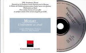 CD-CARTONNE-CARDSLEEVE-COLLECTOR-12-EXTRAITS-MOZART-L-ENLEVEMENT-AU-SERAIL-1991