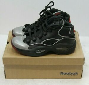 066e8ee26bd9 Reebok Question Mid A5 Size 7 Youth Black Jadakiss Iverson BD4332