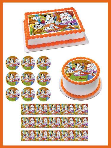 Decor 101 DALMATIANS Edible Cake Topper OR Cupcake Topper
