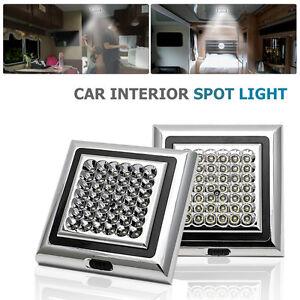 2PCS-12V-42-LED-Lampe-Plafonnier-Panneau-Spot-LED-Chambre-Salon-voiture-Lumiere