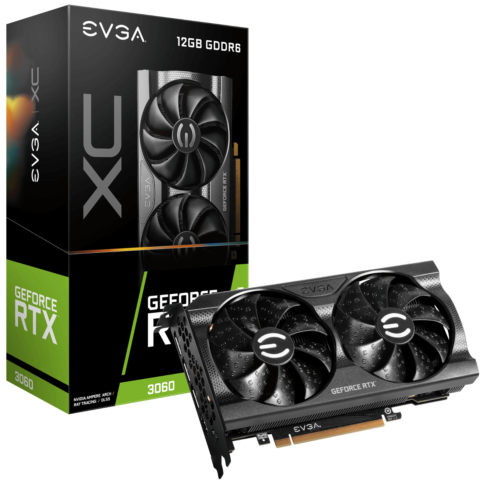 New EVGA Nvidia GeForce RTX 3060 XC GAMING Graphics Video Card 12G-P5-3657-KR