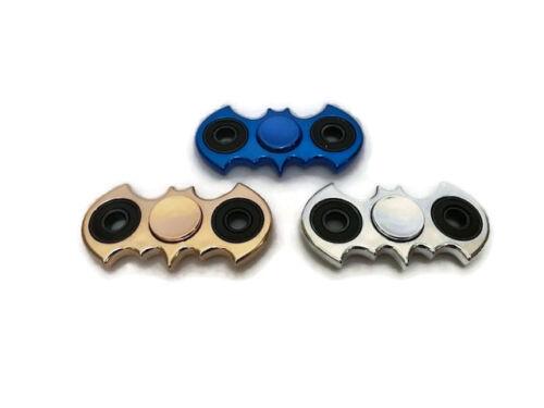 Batman Fidget Hand Spinner Metallic Blue EDC Focus Stress Reliever Kids Adult