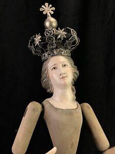 Manichino-Legno-Wood-Dummy-50-cm-Madonna-Crown-Corona-Barocco-Addolorata