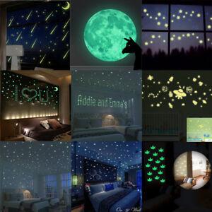 Glow-In-The-Dark-Star-Wall-Stickers-Glitter-Star-Moon-Luminous-Kids-Room-Decor