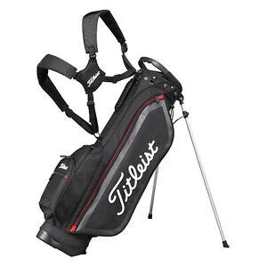 Details About Leist An Golf Caddy Carry Light Weight Stand Bag 7 5inch Cbs76 Black