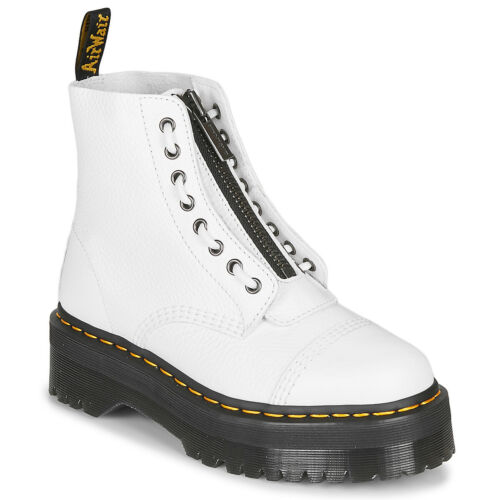 ANFIBIO DONNA UNISEX UOMO Dr MARTENS SINCLAIR PLATFORM MILLLED NAPPA LEATHER WHI
