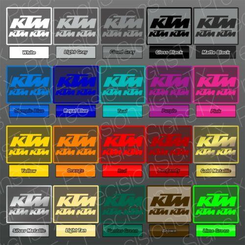 KTM Decal SET Vinyl Sticker Window Graphic Moto Truck Emblem ATV 250 Racing Logo