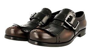 45 Chaussures Luxueux Marron Nouveaux Prada 45 5 Black 2og056 11 00qPr