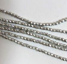 Bronze Aluminum 3mm Faceted Firepolish Czech Glass 48 beads