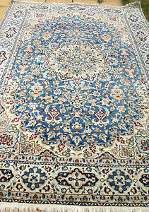 Details About 7000 John Lewis Persian Nain Hand Woven Silk Wool Rug 310 X 210 Cm Antique