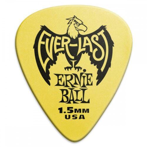 Ernie Ball Everlast Guitar Picks//Plectrums 12 pack Yellow 1.5mm
