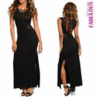 New Sexy Maxi Dress Size 6-12 Side Split Sleeveless Casual Evening Party Wear