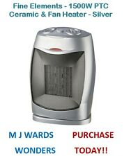 Fine Elements - 1500W PTC Ceramic & Fan Heater - Silver