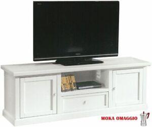 Porta Tv Shabby Usato.Dettagli Su Classico Mobile Porta Tv Shabby Chic Bianco Con Ripiani Sportelli Cassetti 1003