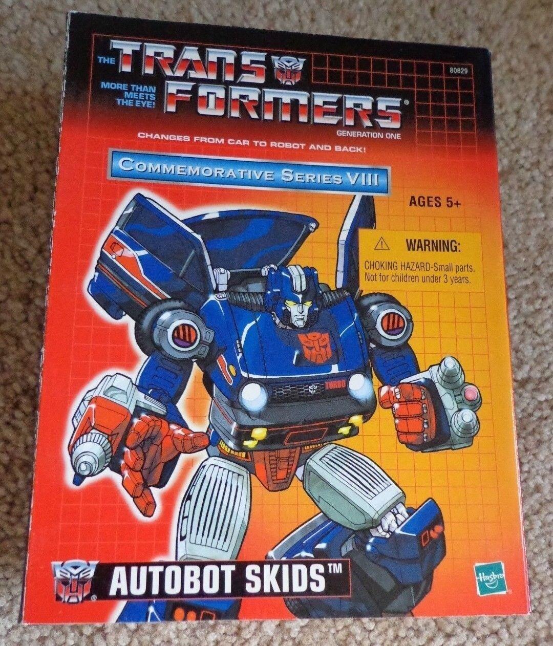 Transformers Autobot Skids Nuevo en caja sellada de la serie conmemorativa VIII