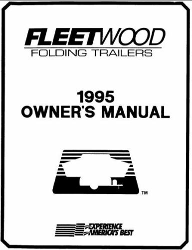 COLEMAN Trailer Owners Manual-1995 Pioneer Columbia Arcadia Avalon Chesepeake CP