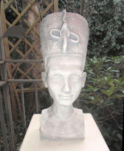 Gartenfigur Statue Büste Nofretete Skulpturen Gartendekoration Steinguss 42 cm