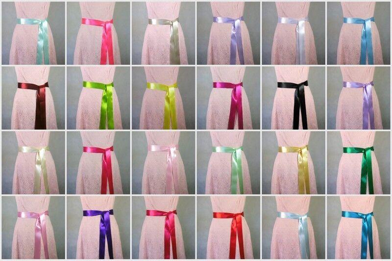Brautgürtel, Abendkleidgürtel Taillenband, Damen Gürtel, Satiband, 24 Farben.