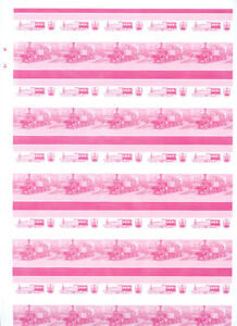 Railway-Locomotive-Imperf-Magenta-Proof-Sheet-Of-50-Pairs-S415