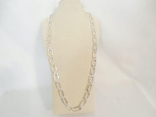Robert Lee Morris Soho Silver-Tone Geometric Link Strand Necklace RLM110 $68