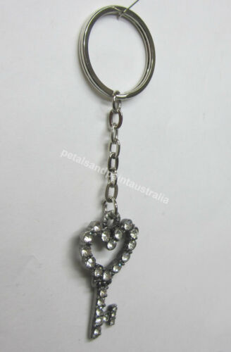 Sparkling Bling Key Ring Keyring Silver Tone With Diamontes For 21st Bonbonniere