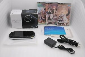 Sony-PSP-3000-Console-PIANO-BLACK-w-Box-amp-Shining-Series-3Games-Set-Japan