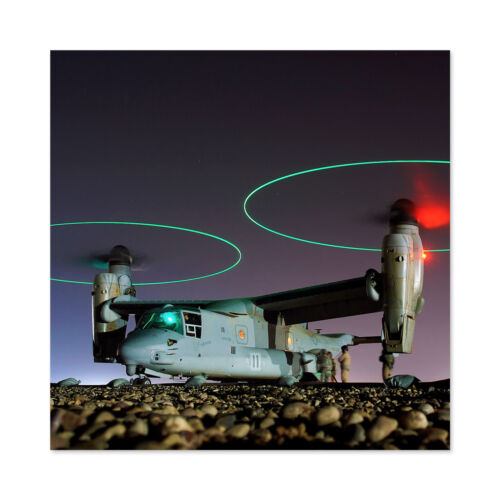 Miltary USA Navy V-22 Osprey Tritrotor Aircraft Large Wall Art Print Square