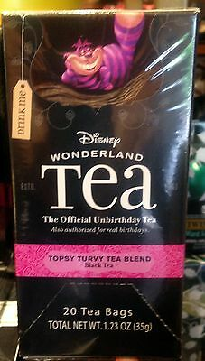 Alice In Wonderland Tea Topsy Turvy Blend 20 Bags Disney World Theme Parks NEW