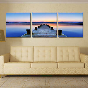 BIG WAVE//SEASCAPE ready to hang 3pcs picture mounted artwork//surpassed stretched