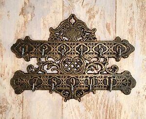 Cast iron numerical hotel room wall mount vintage key rack holder ebay - Vintage hotel key rack ...