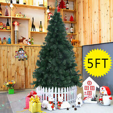 5Ft Artificial PVC Christmas Tree W/Stand Holiday Season Indoor Outdoor Green