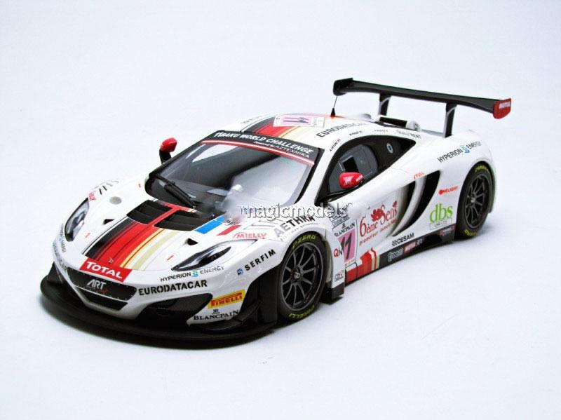 McLaren 12C GT3 Art Grand Prix 24Hr. Spa 2013 1 18 by Minichamps 151131311 New