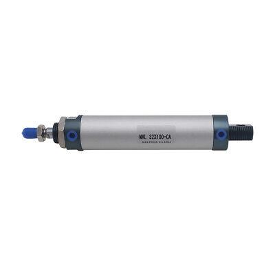 Mini Pneumatic Air Cylinder 32mm Bore 100mm Stroke Single Rod MAL32x100