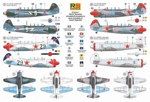 British, FRENCH /& GERMAN MKGS YAKOVLEV YAK-11 Moose #92168 1//72 RS MODELS