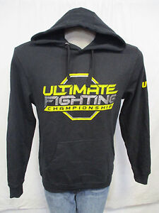 UFC Men/'s M-2XL Pullover Hooded Sweatshirt w// Black Yellow /& Silver MMA A9MRB