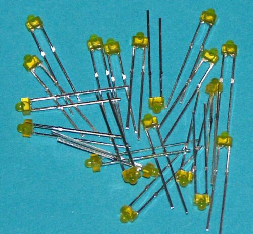 1.8 mm Yellow LED/'s Pack of 20 L18YD