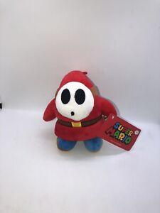 Nintendo-Super-Mario-Mini-Villains-Shy-Guy-Plush-Doll-Toy-Soft-6-034-2018-NWT