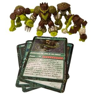 Gormiti-Forest-Tribe-Series-2-Lot-Of-4-With-Cards-Lord-Barbataus-Giochi-Preziosi
