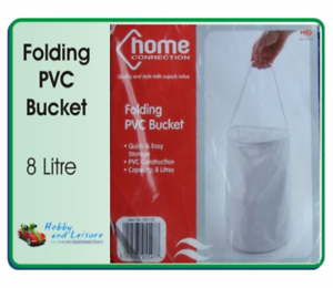 Camping Fishing Boating 8 Litres Home Connection Folding PVC Bucket
