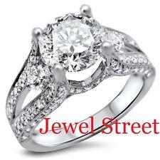 Online Jewelry 3.34 Ct White Round Diamond Ring Size 8
