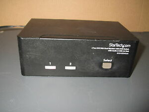 Lotto-4x-startech-com-SV231DDVDUA-2-Porte-DVI-VGA-DOPPIO-MONITOR-SWITCH-KVM-USB2