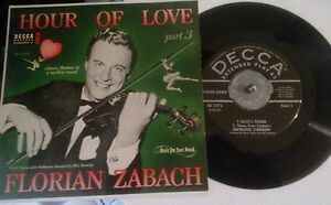 Florian-Zabach-Decca-rare-EP-w-PS-45-rpm-2173-Hour-Of-Love-Ravel-039-s-Pavane